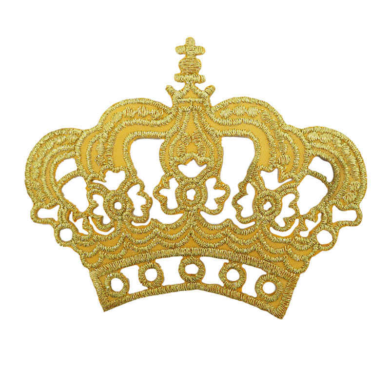 11 Large Sequin Royal Queen Crown Patch Fleur de Lis Iron on Patch DIY Red Gold Red Crown Patch