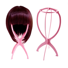 Plastic Folding Durable Wig Faux Hair Hat Cap Holder Stand Display Support Tool