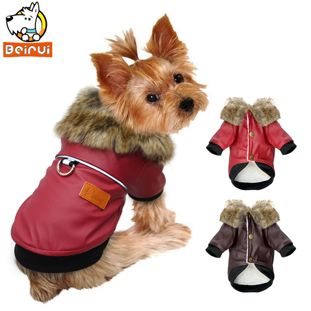 ce0c88bb7987 Dog Pet Clothes Jacket Pug Clothes Winter Waterproof Cotton Coat Clothing  for Small Medium Dogs Pitbull Yorkshire roupa cachorro