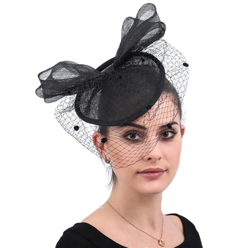 Provided Creative Bow-knot Mesh Bride Face Veil British Fashion Banquet Party Flax Mesh Headdress Ladies Handmade Hair Accessories To Enjoy High Reputation In The International Market Weddings & Events