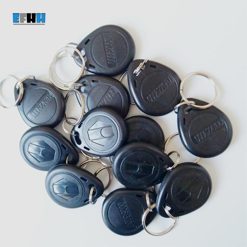 100Pcs/lot 125KHZ EM4100 RFID Keyfobs TK4100 RFID Key Tag Key Ring Access Control Card Read Only ID Card 1pcs lot access control 125khz usb rfid id em card keyfobs reader 5pcs em4100 keychain
