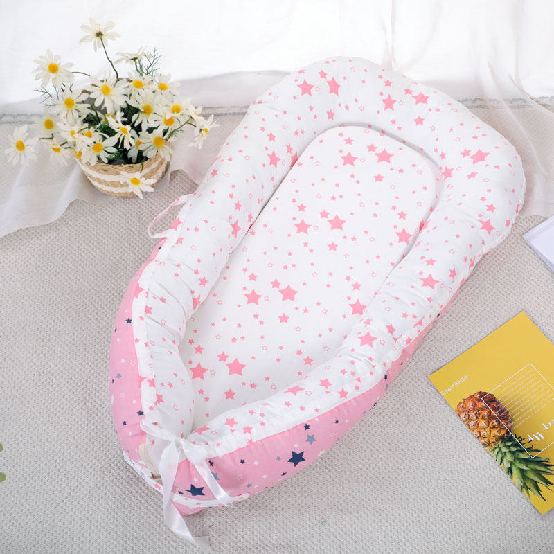 Lit de nid de bébé berceau Portable amovible et lavable lit de voyage pour enfants berceau en coton pour enfants - 3
