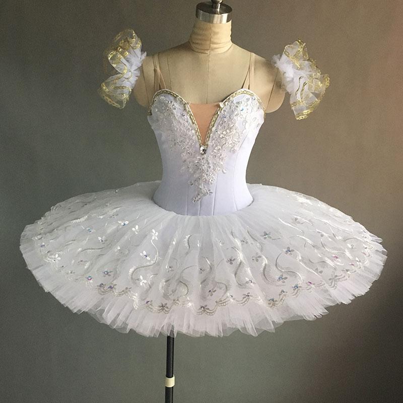 New classical professional ballet tutu, performance stage ballet tutu women & girl ballerina dance tutu white ballerina tutu