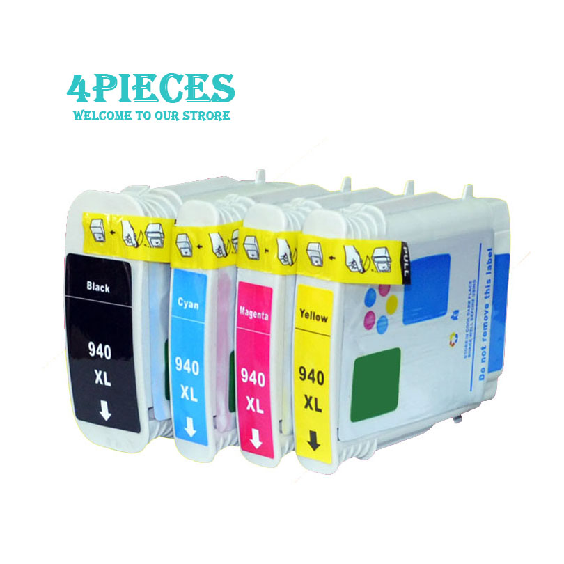 4pcs luoCai Compatible Ink Cartridges For HP 940 Officejet Pro 8500 8500 8500A Printers printer ink cartridge For HP940 XL 940XL 850ml compatible empty refillable ink cartridge for epson stylus pro 10000 pro 10600 10000cf printers cartridge with chip t499