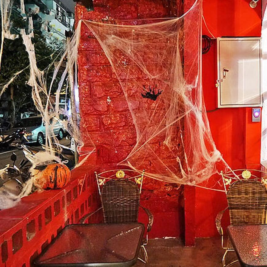 Web Decor: 2017 Novetly Stretchable Funny Stretchable Spider Web