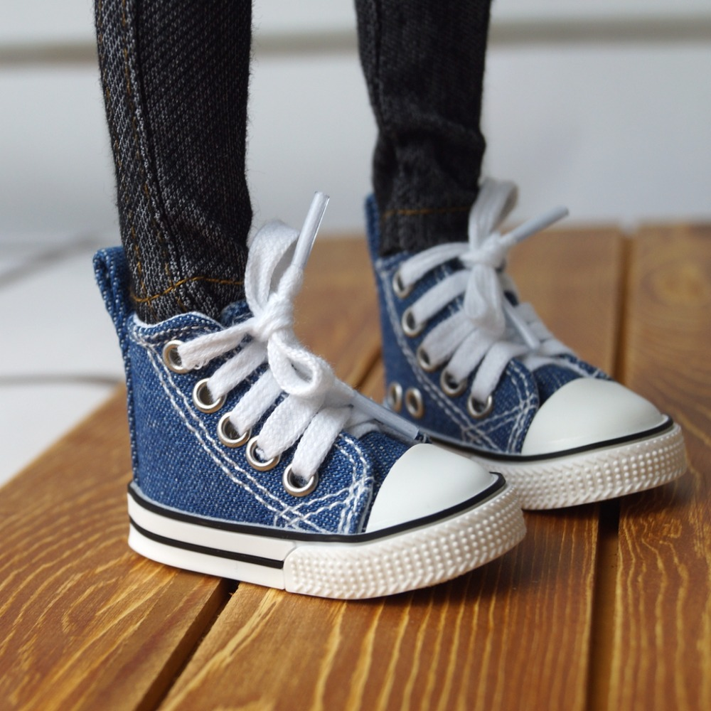 BJD SHOES Jeans Blue Sneakers Canvas Shoes Sports For 1/4 17