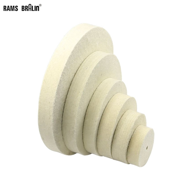 "3""-12"" Diameter * 1"" Thickness Wool Felt Polishing Buffing Wheel Jade Metal Mirror Surface Finish Bench Grinder Tool"
