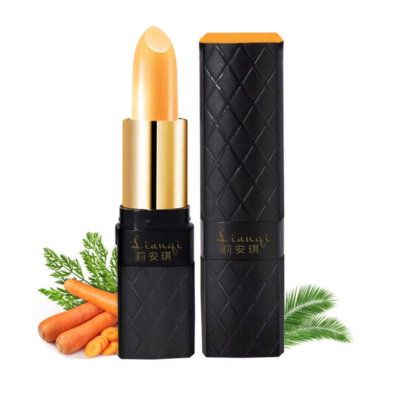 Liangqi brand temperature change color carotene lipstick moisturizing easy to wear orange color lip tint jelly lipstick MA028