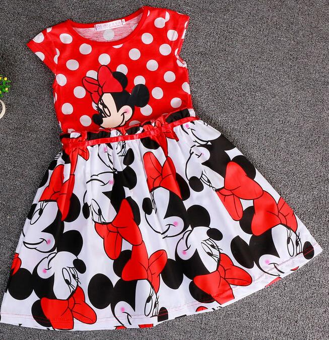 2015new Children S Clothing Minnie Dot Kids Dress Tutu Princess Children Dress Casual Girls Dress