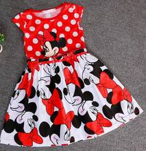 cinderella dress 2017 new children's clothing minnie dot kids dress tutu princess children dress casual girls clothes(China)