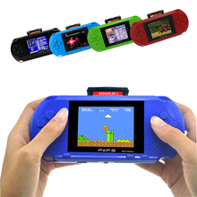 цена на 3 Inch 16 Bit PXP3 Slim Station Handheld Game Player Video Game Console with AV Cable+2 Game Cards Classic Child Games