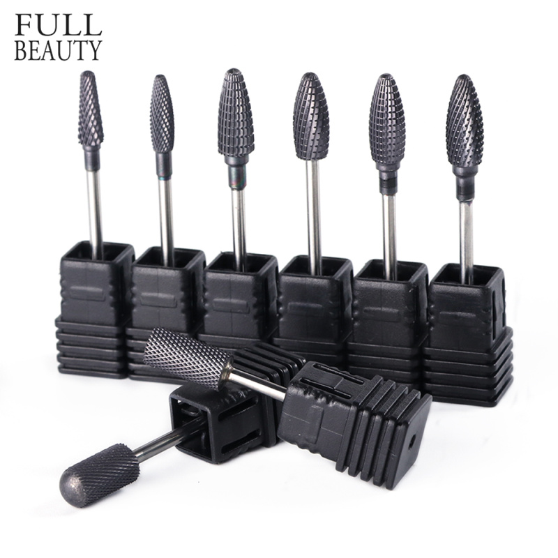 1pcs Black Tungsten Carbide Nail Drill Bit 3/32