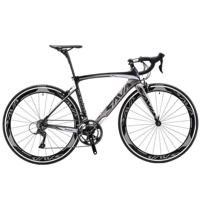 SAVA дорожный велосипед 700C карбоновый шоссейный велосипед T700 карбоновая рама + вилка велосипедный шоссейный скоростной гоночный велосипед с SHIMANO SORA bicicleta carretera