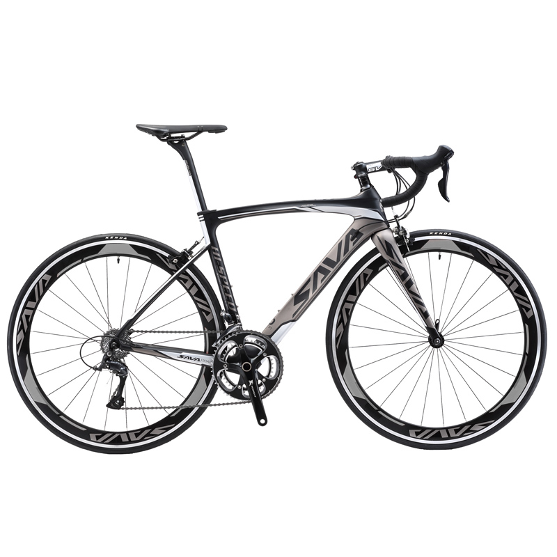SAVA Road Bike 700C Carbon Road Bike T700 Carbon Frame fork Bicycle Road Speed Bike Racing SAVA Road Bike 700C Carbon Road Bike T700 Carbon Frame+fork Bicycle Road Speed Bike Racing with SHIMANO SORA bicicleta carretera