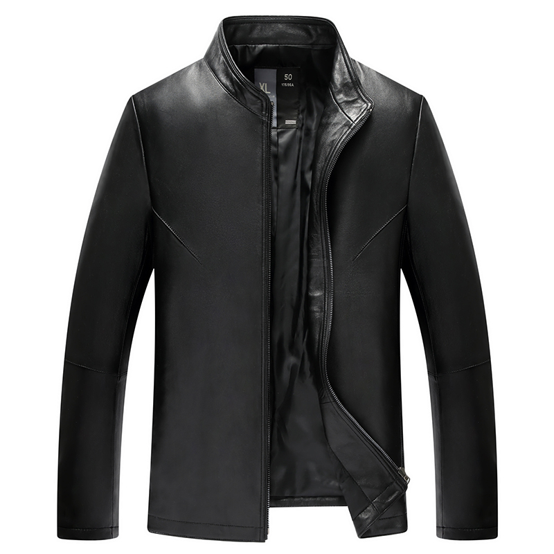 Men fashion makings high-grade sheep skin leisure jacket leather men bomber jacket mens leather jackets for sale