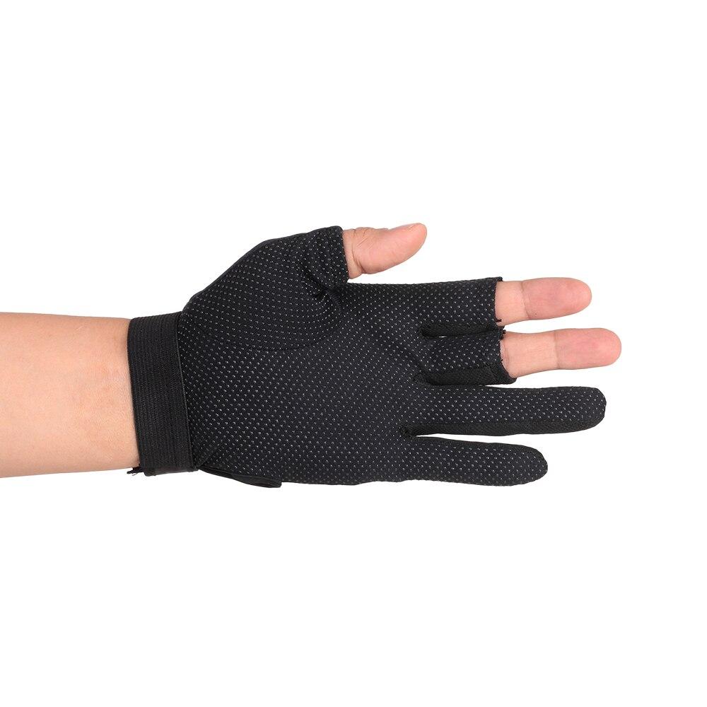 1 пара 3 рыбалка перчатки без пальцев дышащий быстрое высыхание анти-слип рыбалка перчатки спорт на открытом воздухе велоспорт кемпинг работает