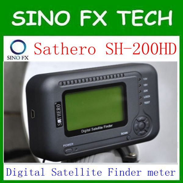 free ship sathero sh 200hd USB2.0 DVB-S/S2 HD Spectrum analyzer Digital Satellite Finder Sathero SH-200 Digital Meter free shipping siglent ssa3021x digital spectrum analyzer 9khz 2 1ghz low phase noise 10hz 3db rbw 10 1 display better rigol