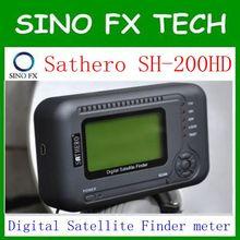 Livre o navio sathero sh 200hd USB2.0 DVB-S/S2 HD Spectrum analyzer Digital Localizador de Satélite Sathero SH-200 Medidor Digital