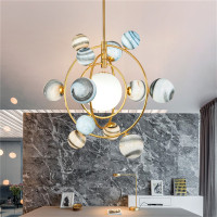 Aro Deco colorful glass chandeliers nordic indoor G9 LED blub lamp restaurant dining room bar shop lighting Fixture AC110 265