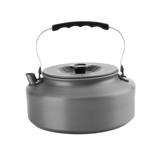 1.6L Portable Ultra-light Aluminum Alloy Water Kettle Outdoor Hiking Camping Climbing Survival Water Kettle Teapot Coffee Pot