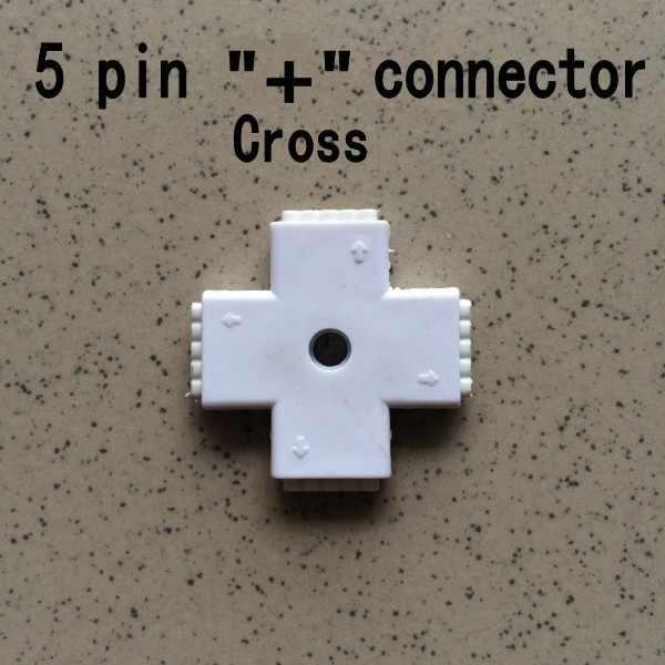 L/T/+ krzyż typu 5 pin RGBW LED złącze 5pin taśmy Led złącza darmowa wysyłka