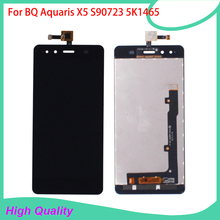 For BQ Aquaris X5 FPC S90723 5K1465 Lcd Display Touch Screen Digitizer Assembly 100 Guarantee Mobile