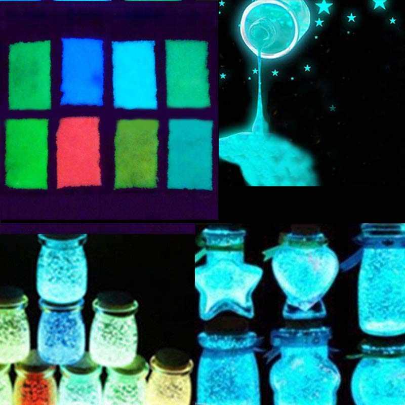 1 가방 다채로운 형광 글로우 파우더 슈퍼 빛나는 입자 모래 글로우 안료 글로우 다크 홈 파티 장식 #20