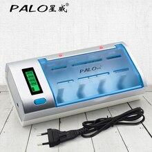 Automático e Proteção contra Superaquecimento Display Lcd Desligamento Universal Baterias Recarregáveis Carregador Rápido & Descarregador
