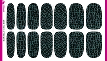 3D Black Background Dark Green Tartan Water Transfer Design Nails Stickers Manicure Styling Tools Water Film Paper Decals