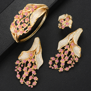 Image 4 - GODKI Luxury MAXI SIZE GRAPE 4PCS Nigerian Jewelry Set For Women Wedding Zircon Indian African Bridal Jewelry Set 2018