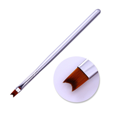 BORN PRETTY Half Moon Shape Acrylic French Tip Nail Brush Silver Handle Manicure UV Gel Painting Drawing Pen Nail Art Tools