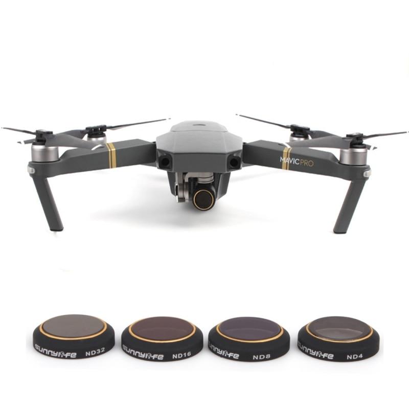 PULUZ For DJI Mavic Pro Lens Filter 4 in 1 HD font b Drone b font