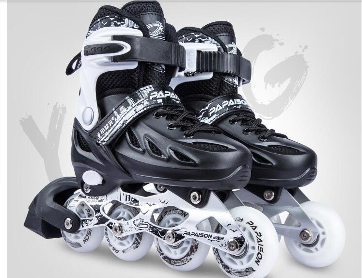 Skate Adulte patins à roulettes Débutants Mâle et Femelle Collège Étudiants Professionnel Inline enfants chaussures de sport