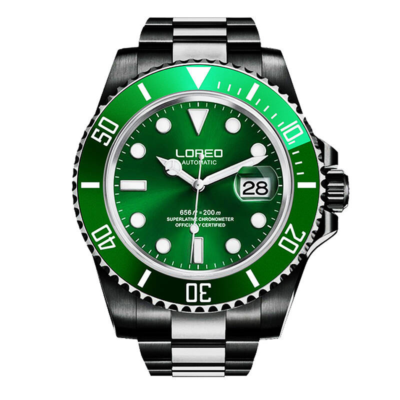 LOREO 9201 Germany 200M archetype of divers watch automatic self-wind luminous stainless steel sapphire diamond divers sportLOREO 9201 Germany 200M archetype of divers watch automatic self-wind luminous stainless steel sapphire diamond divers sport
