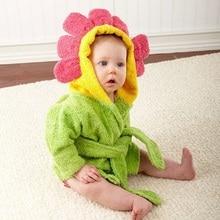 Cute Comfortable Baby Bathrobe Animal Solid Babies Blanket Kids Hooded Toddler Bath Towel For Bathroom