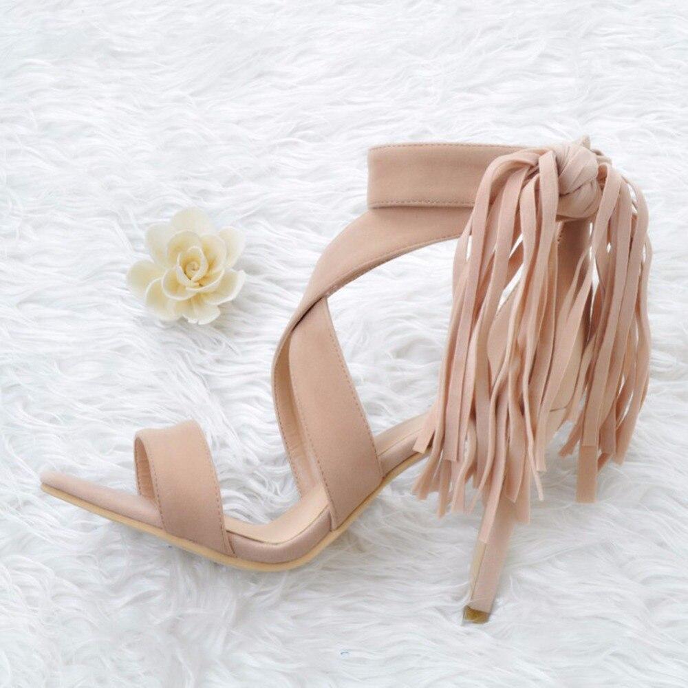 10 Borla Verano Cm Del Zapatos Talón Tobillo Moda Mano Xd021 A Sandalias Alto Abrigo Hecha qxa1tT