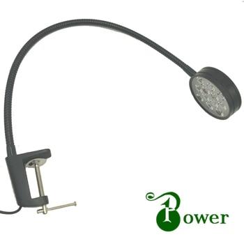 12W CLAMP MOUNT WORKSHOP LED GOOSENECK LIGHT 24 led workshop disc lamp with magnetic mount