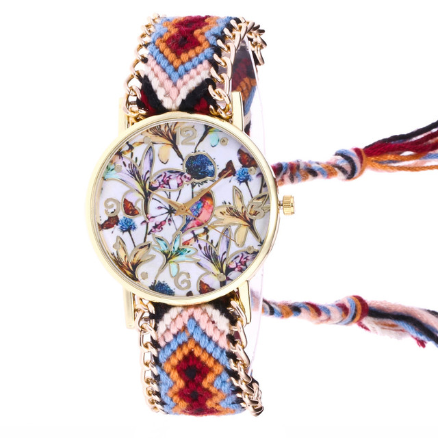 Dreamcatcher Friendship Bracelet Watch Ladies Rope Watch Quarzt Watches Relogio