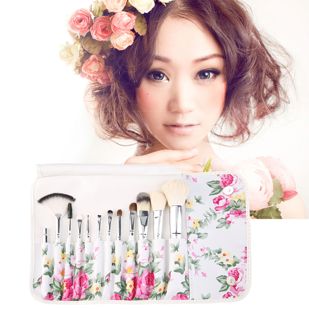 Professional 12 pcs Makeup Brush Set tools Make-up Toiletry Kit Wool Brand Make Up Brush Set Case Cosmetic Brush Best Selling