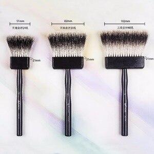 Image 4 - 2520BS Chất lượng cao badger tóc tay cầm bằng gỗ nghệ thuật sơn nghệ thuật tranh bút lông Acrylic bút cho acrylic tinh dầu vẽ
