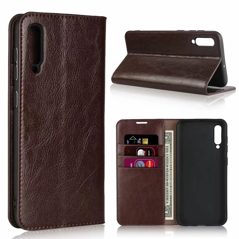 For <font><b>Samsung</b></font> Galaxy A50 <font><b>Case</b></font> Genuine Leather Wallet <font><b>Case</b></font> Card Stand <font><b>Flip</b></font> <font><b>Cases</b></font> For <font><b>Samsung</b></font> Galaxy A10 <font><b>A30</b></font> Phone Bag Cover Coque image