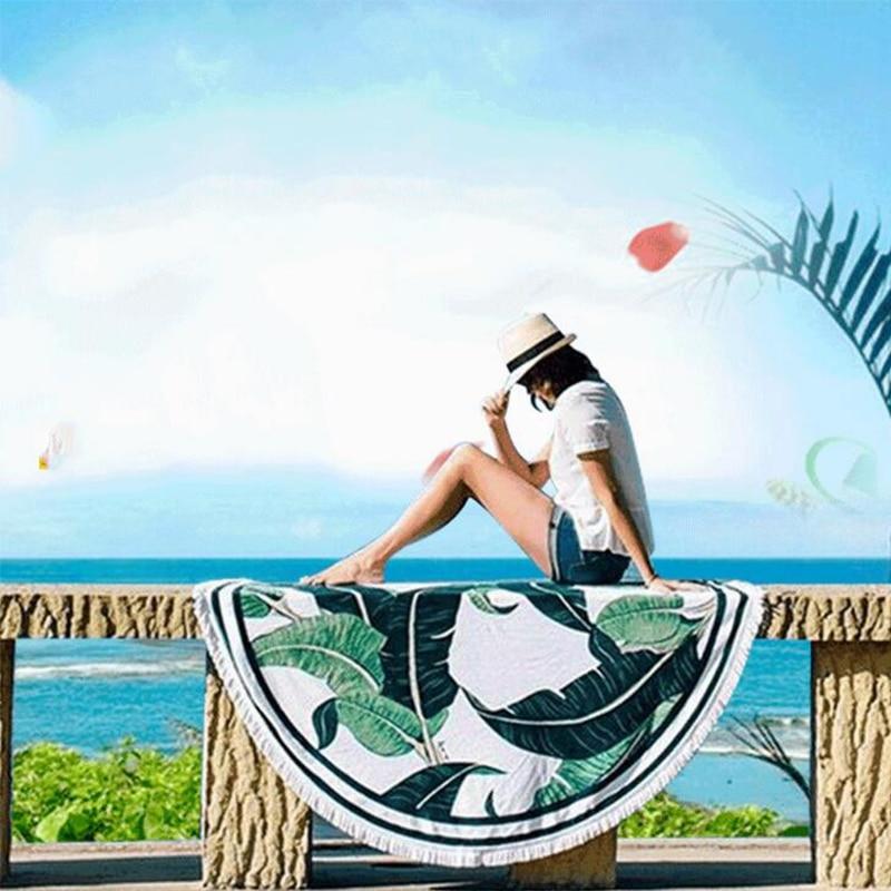 Ամառային կանանց տպած կլոր լոգարանով - Տնային տեքստիլ