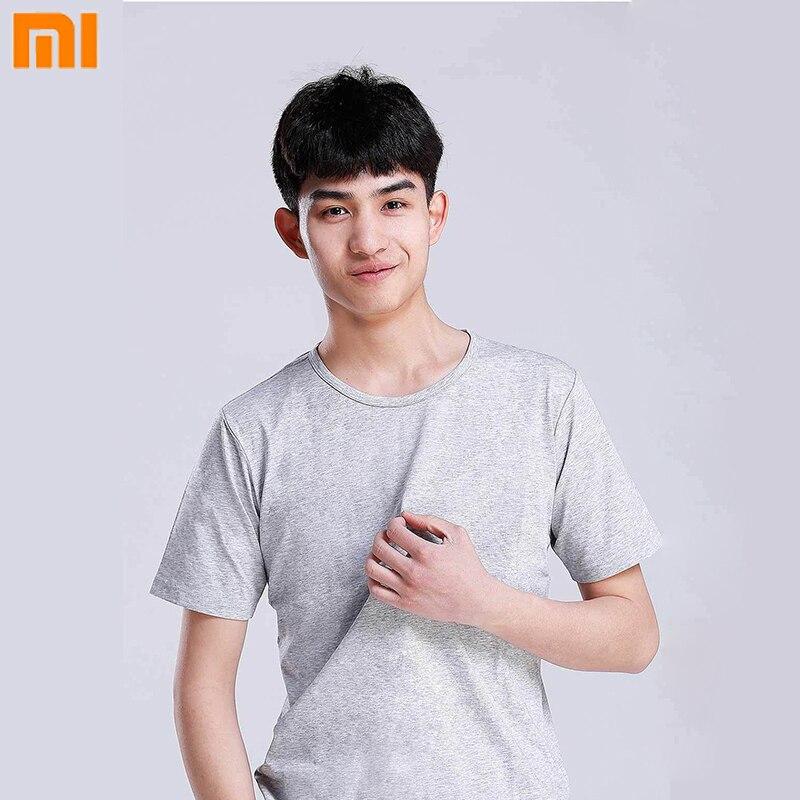 2 unids/set Xiaomi 90 camiseta plata Lon Antibacterial T-Shirt hombres sudor-absorbente y de secado rápido desodorante Ultra- camiseta delgada