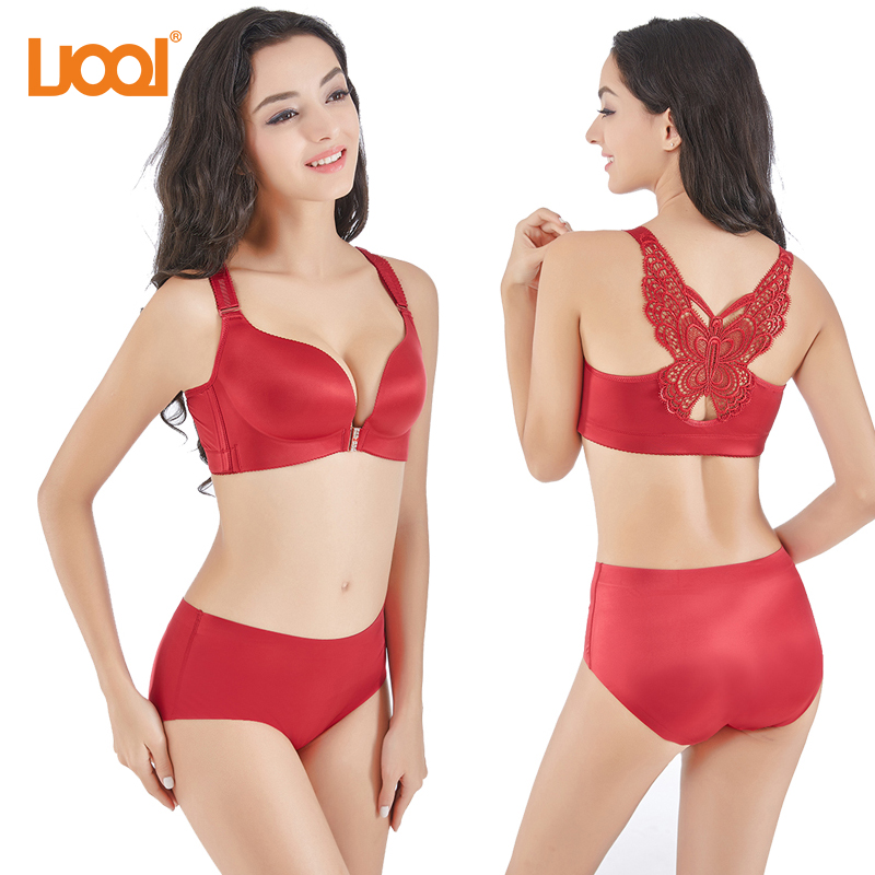 Bras For Women Plus size Front Closure Lace 38B Wire Free Brassiere Seamless Sexy Push-up bralettes Sexy Underwear 2018 New