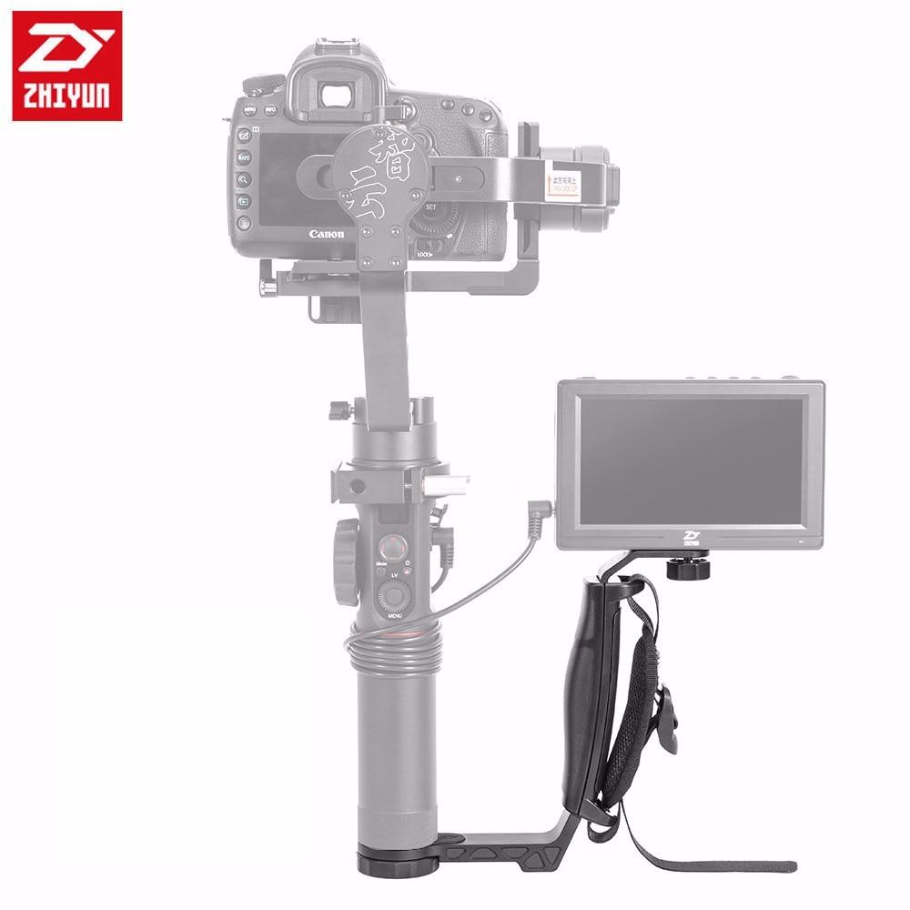 Zhiyun Single Handle Grip L Bracket Rig,for Zhiyun Crane 2 /Plus /Crane M Series Handheld Gimbals with 3pcs 1/4 Screw Connector