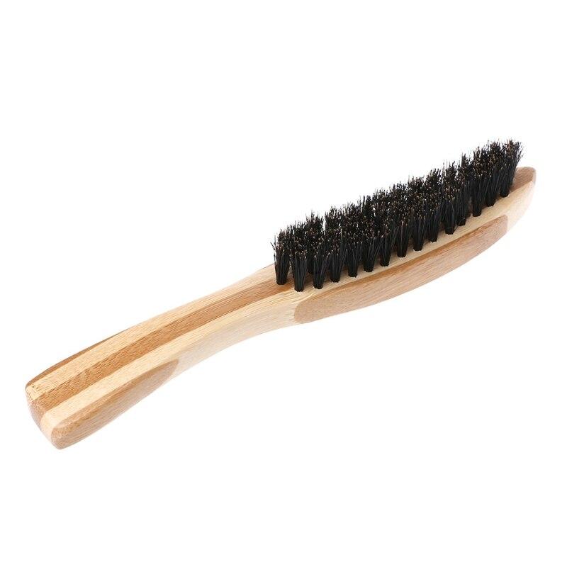 Mustache Beard Men Shaving Brush Long Bamboo Handle Boar Bristles Facial Cleaning Razor Brush Male Barber Shaving Appliance