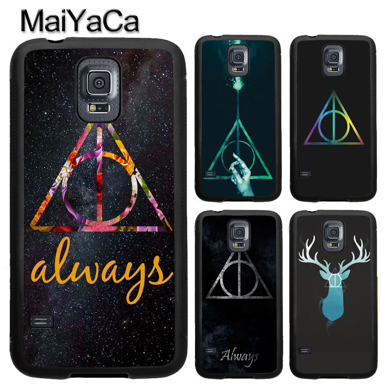 MaiYaCa Always Deathly Hallows Harry Potter TPU Phone Case Cover Coque For Samsung S4 S5 S6 S7 edge S8 S9 plus Note 8 5 4 Capa