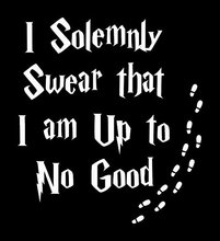 I Solemnly Swear That Am Up To No Good Harry Potter White Decal Vinyl Sticker|Cars Trucks Vans Walls