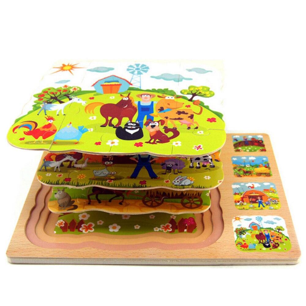 de dibujos animados beb juguetes conjunto capa granja juguete de la educacin temprana