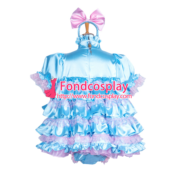 75cfe9a6a lockable adult Sissy baby Satin dress/Romper Unisex CD/TV Tailor made[G3853]  on Aliexpress.com | Alibaba Group